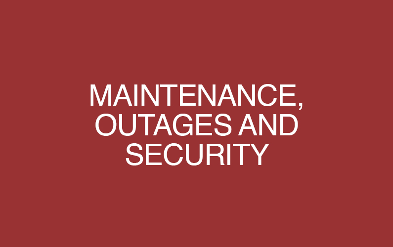 OIT Maintenance, Outages, and Security Words